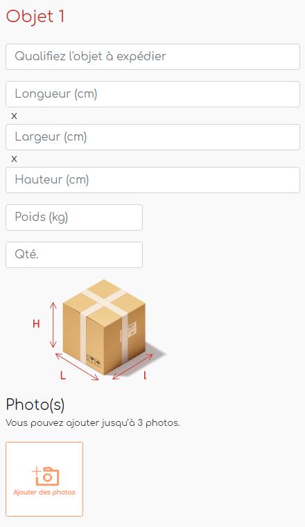 objet à transporter longueur largeur hauteur quantité photos iep! transports